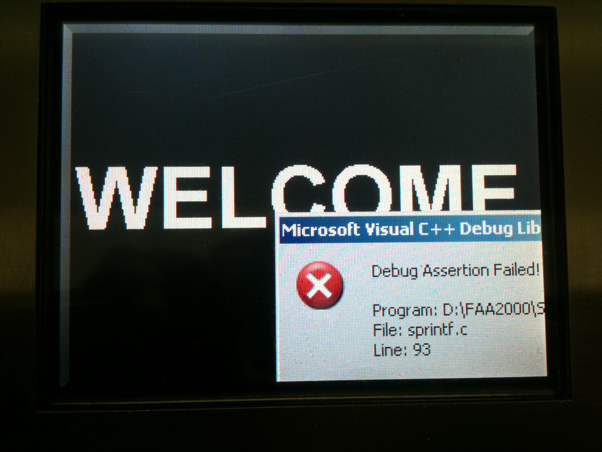 Welcome, Assertion Failed!