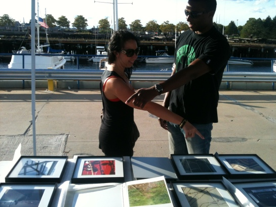 Visitors at HarborArts Festival 2013